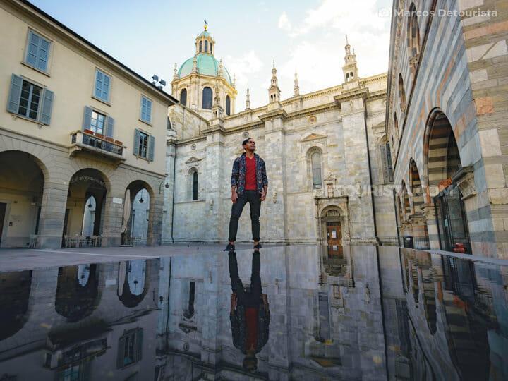 Como Cathedral (Cattedrale di Como) in Como, Lombardy, Italy