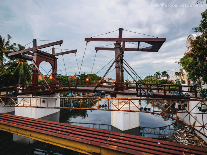 Jembatan Kota Intan (Dutch-colonial drawbridge) in Old Batavia (Kota Tua), Jakarta, Indonesia