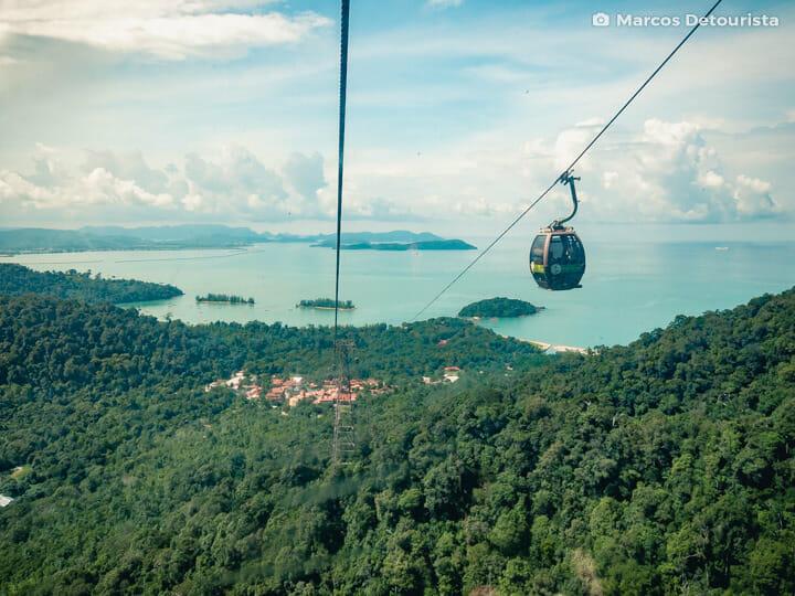 Langkawi Cable Car view in Langkawi, Malaysia