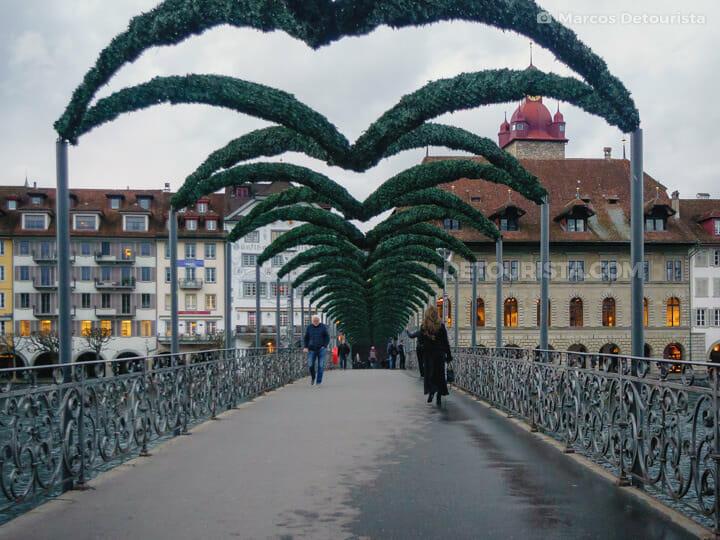 Rathaus-Steg (bridge), in Lucerne, Switzerland