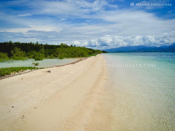 Snake Island in Honda Bay, Puerto Princesa, Palawan, Philippines