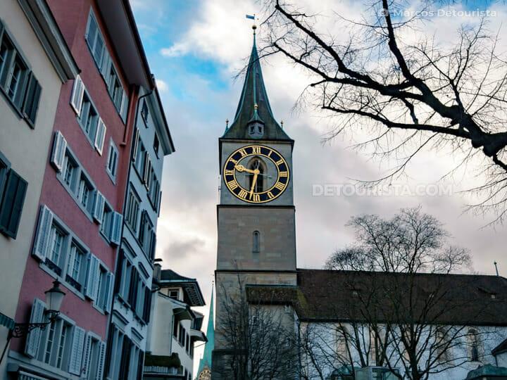 St. Peter Pfarrhaus Church in Zurich, Switzerland