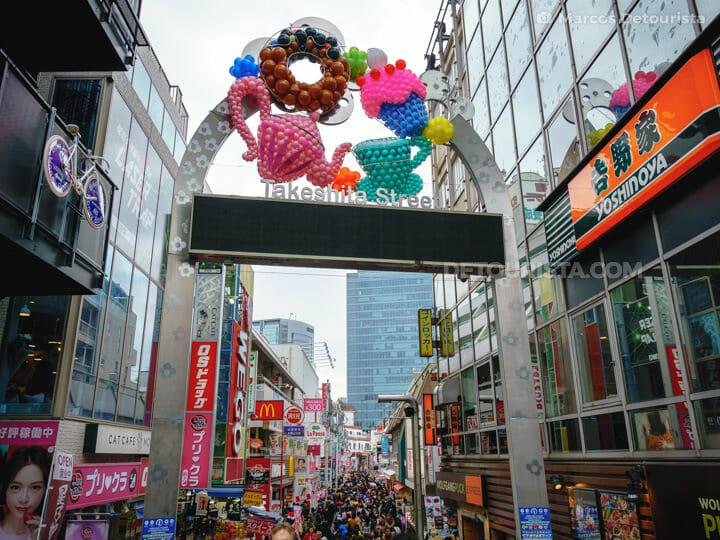 Takeshita Street, in Harajuku, Tokyo, Japan