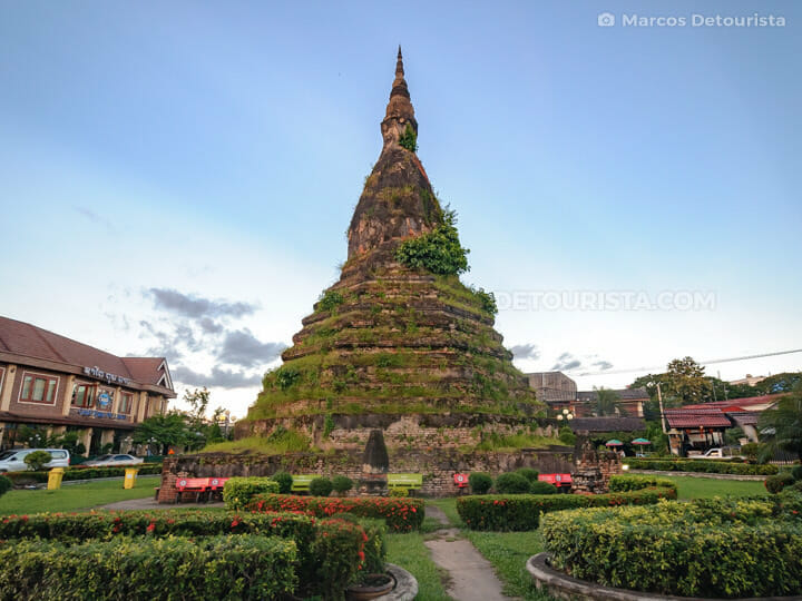That Dam Black Stupa, Vientiane