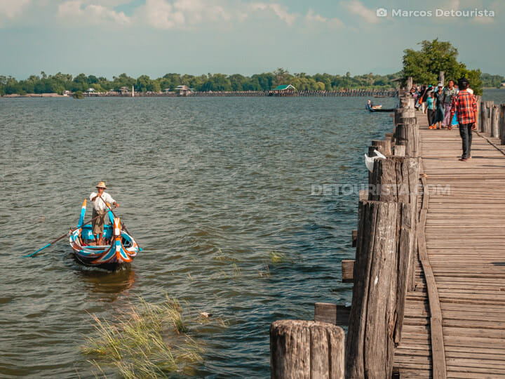 Ubein Bridge in Amarapura, Greater Mandalay, Myanmar