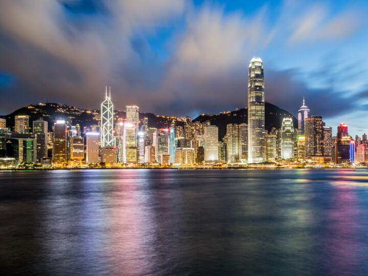 Victoria Harbour - Central skyline view from Tsim Sha Tsui