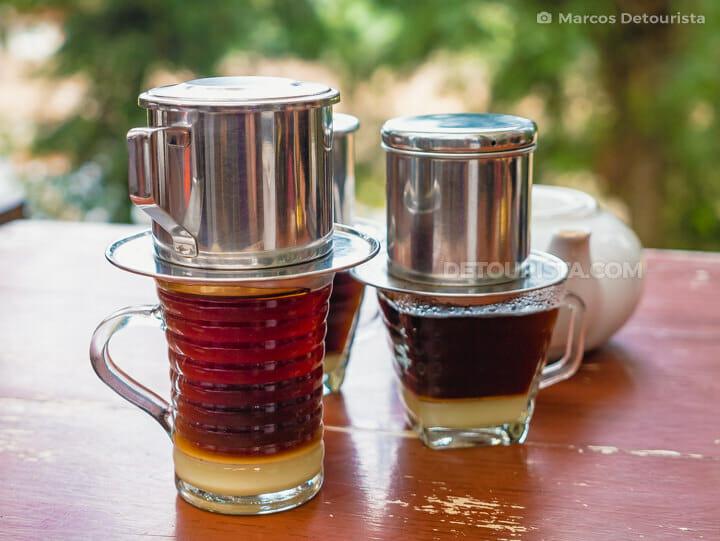 Armor Kopi - Vietnamese Phin Coffee, in Djuanda Forest Park, Bandung, Indonesia