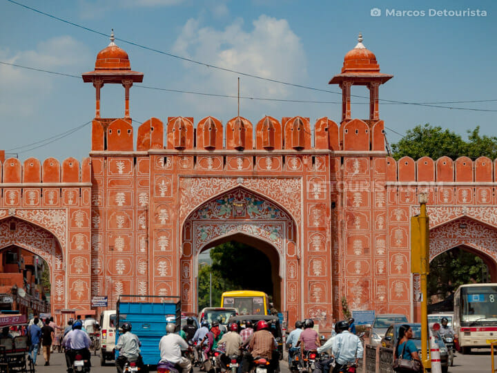 Chandpole Gate in Jaipur, Rajasthan, India