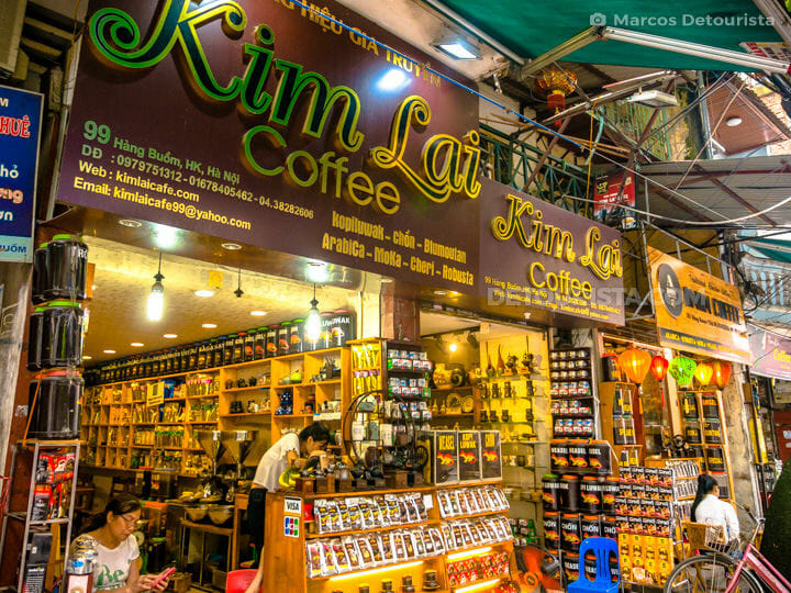 Coffee stalls, in Old Quarter, Hanoi, Vietnam