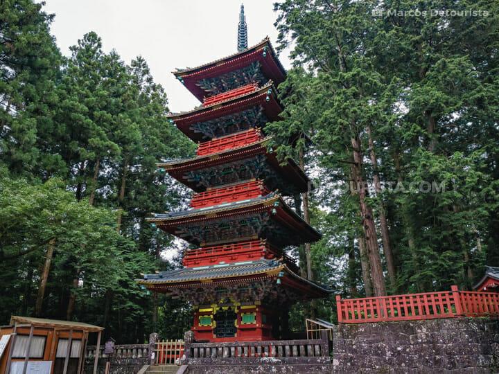 Five-Story Pagoda (Toshogu Gojunoto) in Nikko, Japan