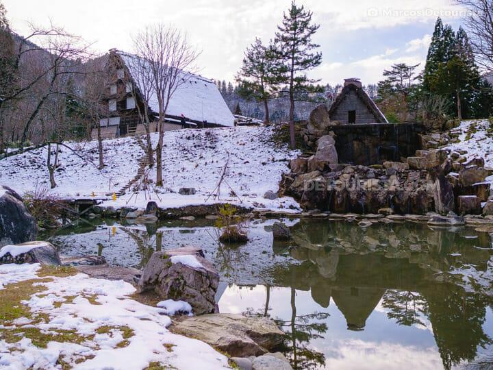 Gasshozukuri Minkaen Outdoor Museum in Shirakawa-go, Gifu, Japan