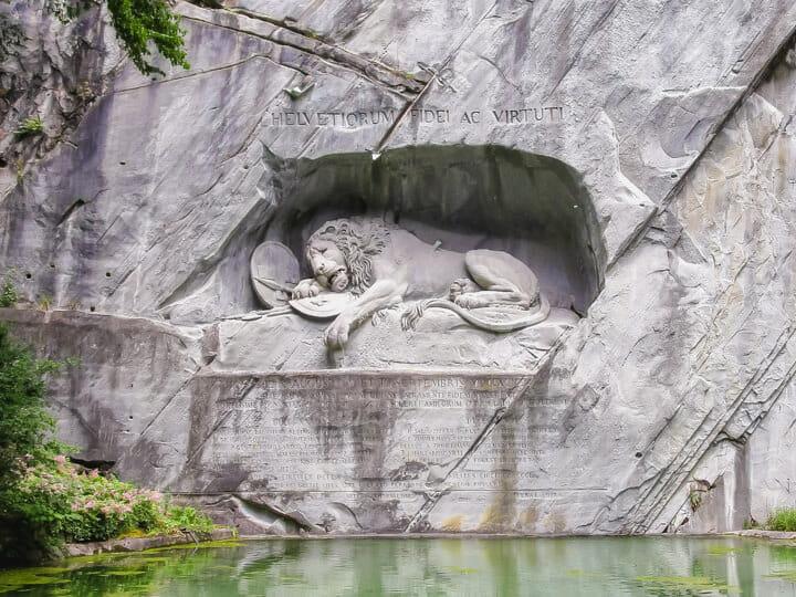 Lion Monument in Lucerne, Switzerland