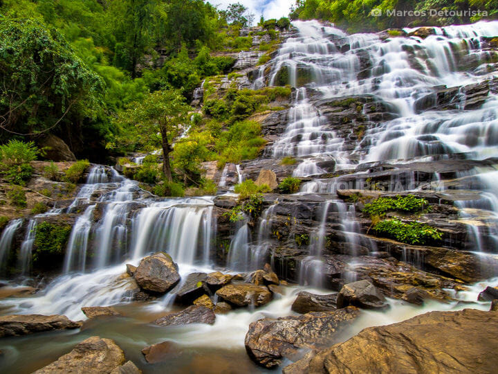 Mae Ya Waterfall at Mount Doi Inthanon in Chiang Mai, Thailand