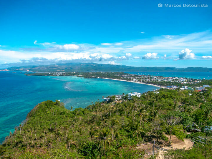 View from Mt. Luho facing White Beach, in Boracay Island, Malay, Aklan, Philippines