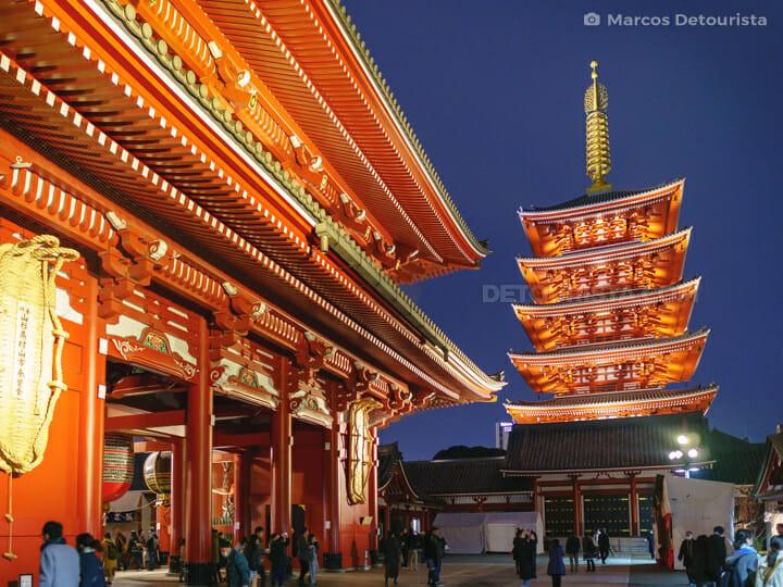 Sensō-ji temple in Asakusa, Tokyo, Japan