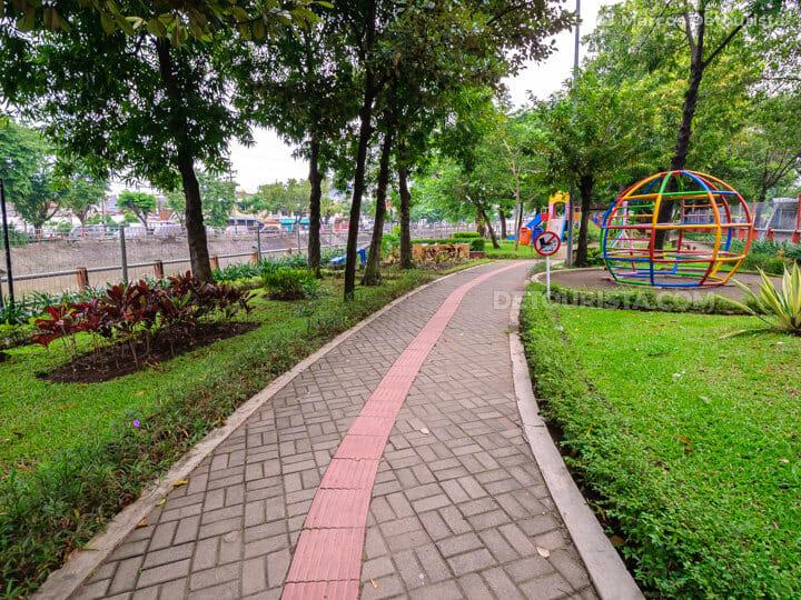 Surabaya riverside park in East Java, Indonesia