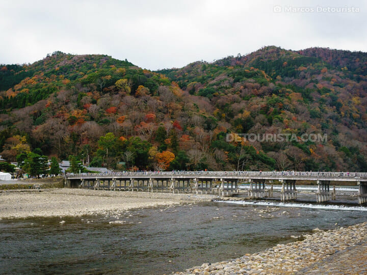 Togetsu-kyō Bridge in Arashiyama, Kyoto, Japan