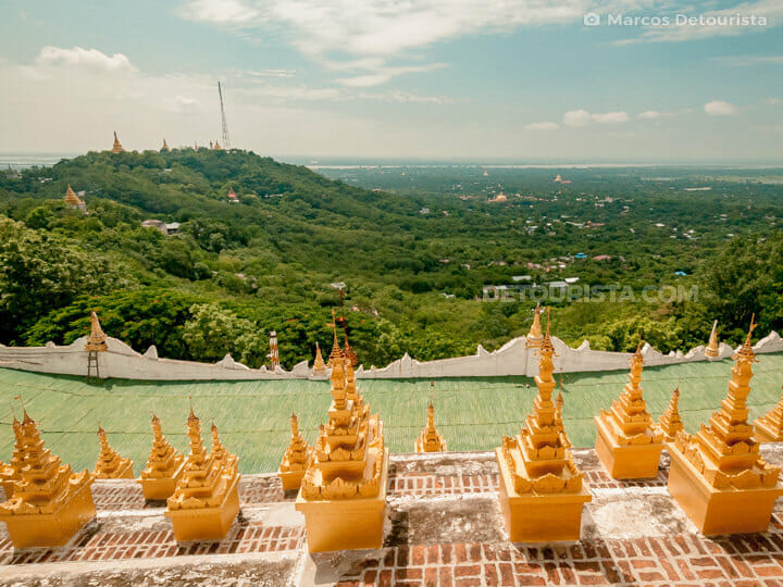 U Min Thonze Pagoda in Sagaing, Greater Mandalay, Myanmar