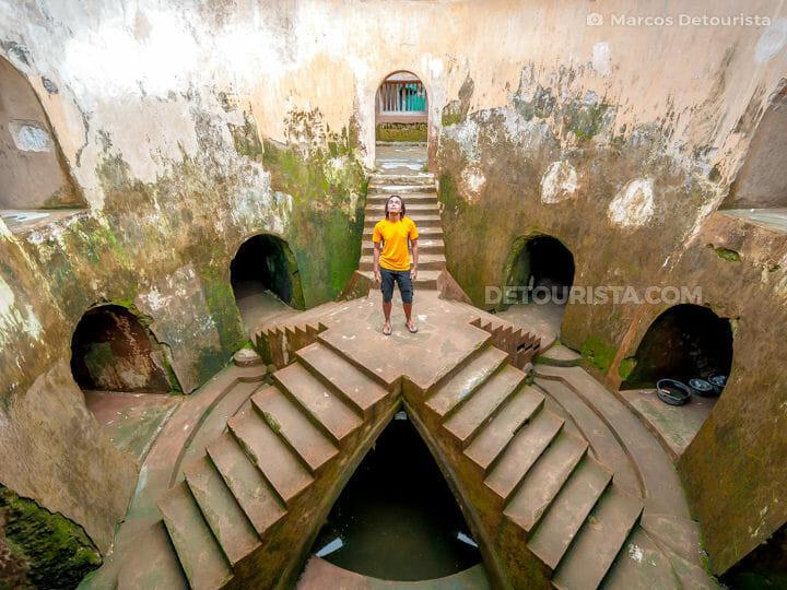 Marcos at the underground mosque near the Water Castle (Taman Sari), in Yogyakarta, Java, Indonesia