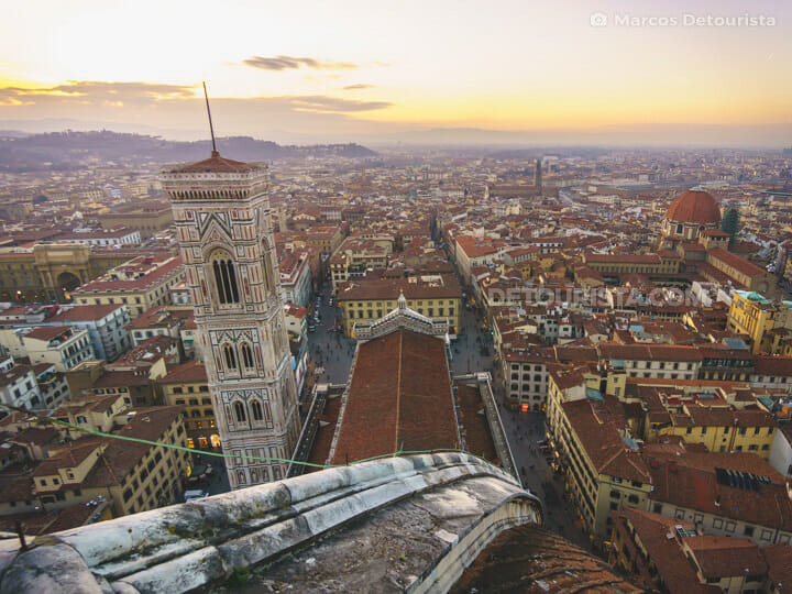 Florence Cathedral rooftop/dome view, in Florence, Italy