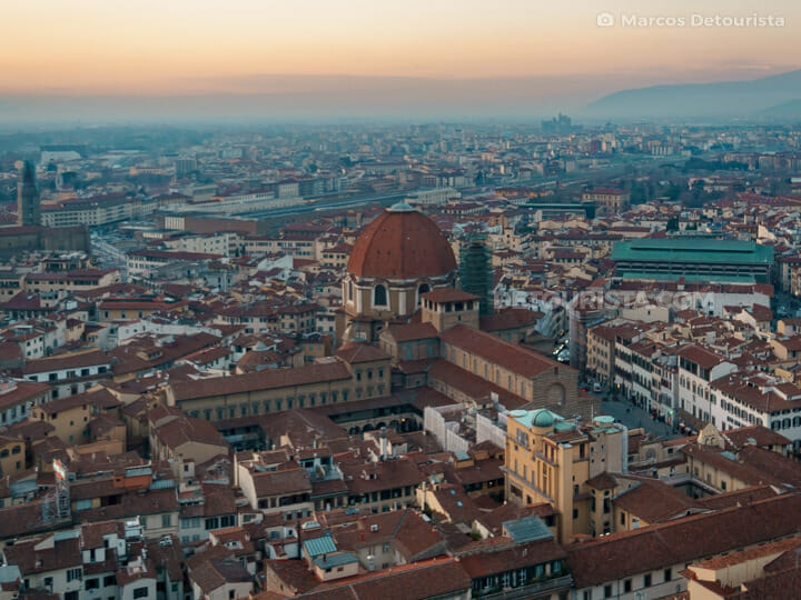 Florence Historical Centre view from Florence Cathedral in Tuscany, Italy