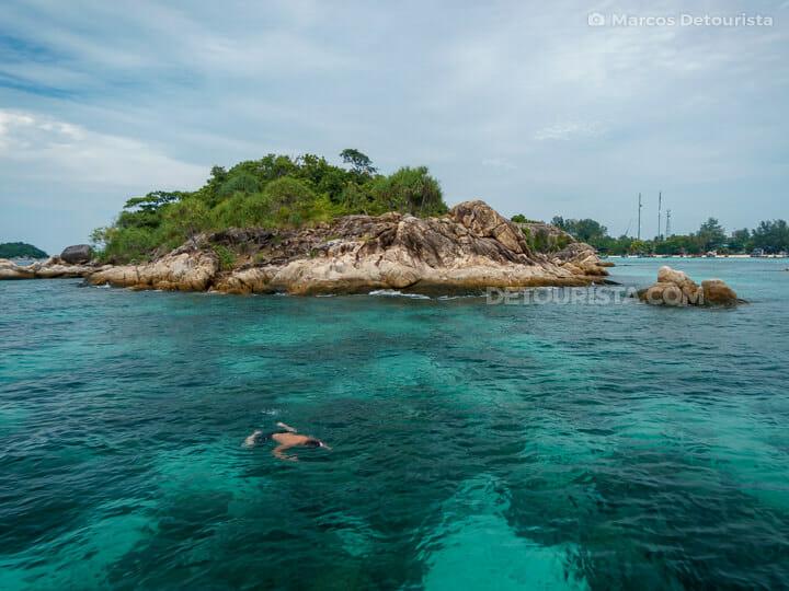 Ko Kra snorkeling in Ko Lipe, Satun, Thailand