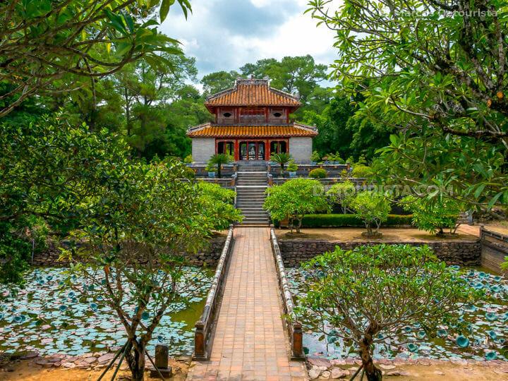 Lang Minh Mang (tomb), in Hue, Vietnam