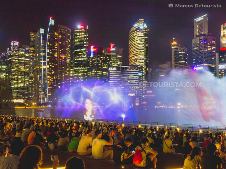 Marina Bay Light & Sound show