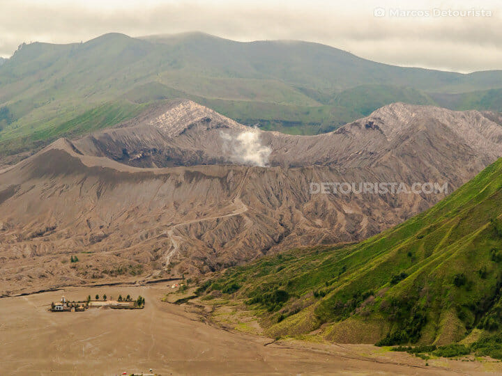 Mount Bromo summit crater