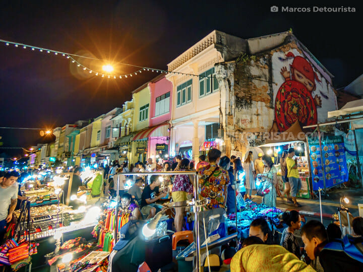 Phuket Town Weekend Night Market in Phuket, Thailand