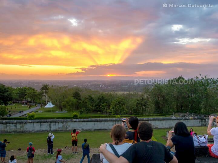 Ratu Boko sunset view, in Yogyakarta, Indonesia