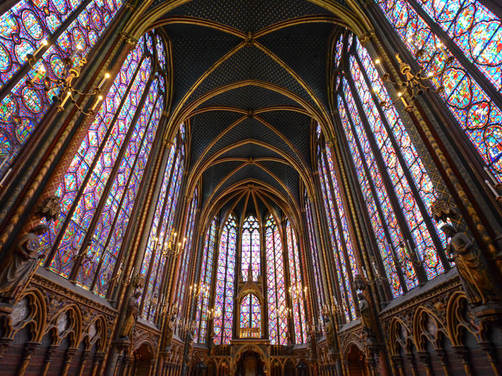 Sainte-Chapelle in Paris, France