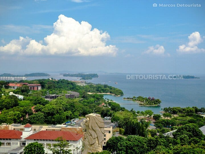 Sentosa Island - Tiger Sky Tower view, in Singapore