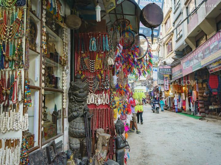 Thamel shopping street in Kathmandu, Nepal