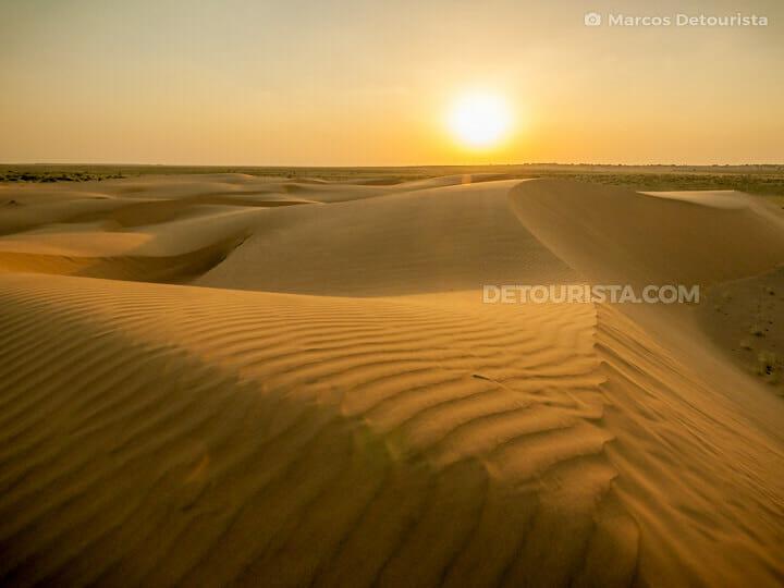 Thar Desert sunset view, Jaisalmer