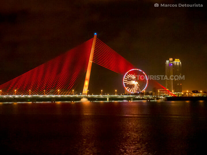 Tran Thi Ly Bridge and Sun Wheel at Night
