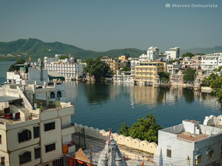 Udaipur rooftop views, India
