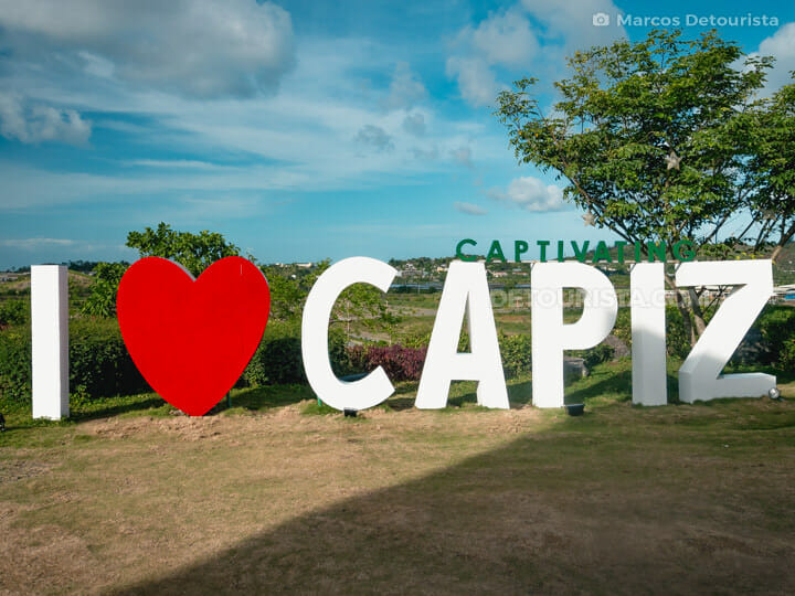 I Love Capiz sign at Cafe Terraza, Roxas City, Capiz