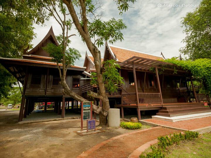 Kum Khun Phaan (Teak House) in Ayutthaya, Thailand
