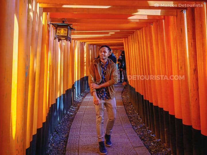 Marcos at Fushimi Inari Taisha (shrine), in Kyoto, Japan