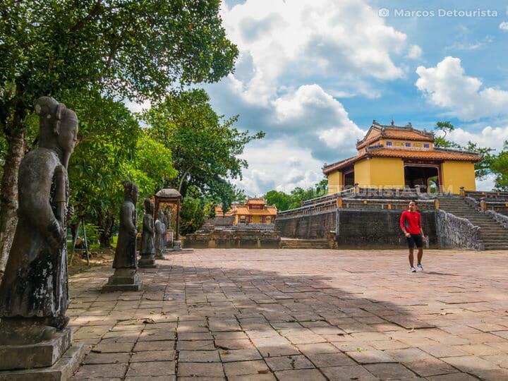 Marcos at Lang Minh Mang (tomb), in Hue, Vietnam