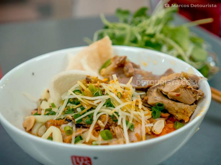 Mi Quang (noodle dish) at Mi Quang 1A in Da Nang, Vietnam