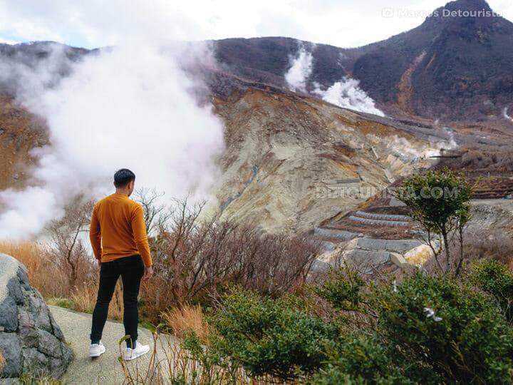 Owakudani sulfur mine in Hakone, Japan