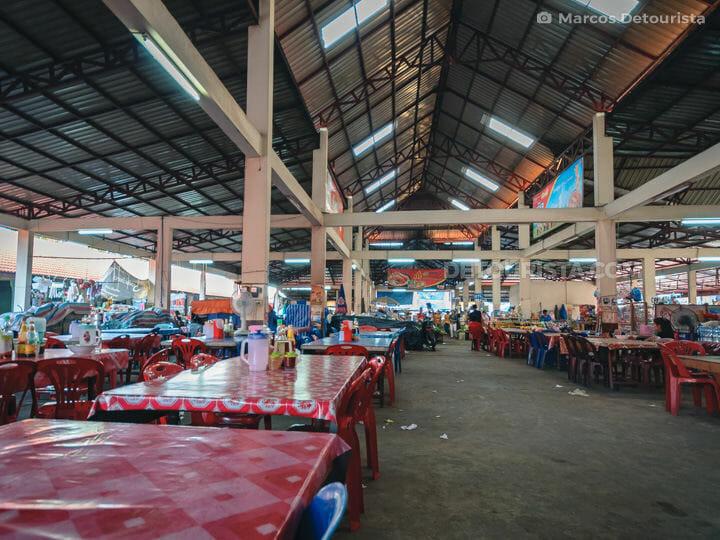 Pakse Market Food Stalls in Champasak, Laos