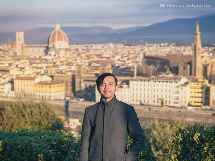 Marcos at Piazzale Michelangelo, in Florence, Italy