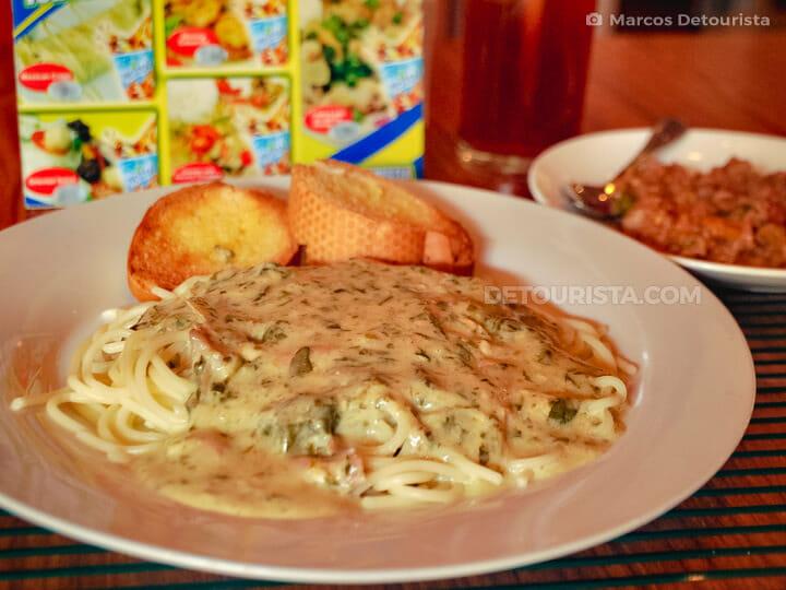 Pinangat Pasta at Small Talk Cafe, in Legazpi City, Albay, Phili