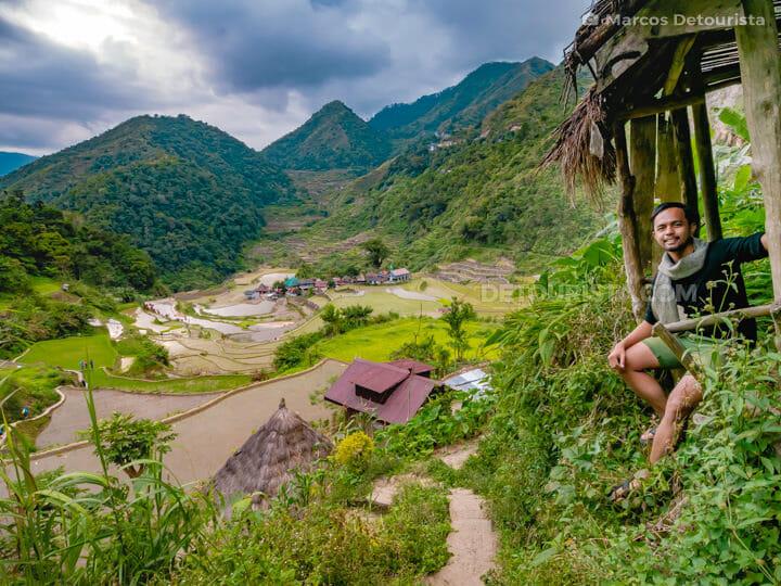 Trail to Bangaan Rice Terraces, in Banaue, Ifugao, Philippines