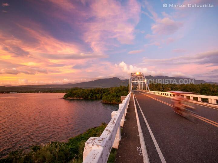 Sunset at Biliran Bridge in Biliran, Philippines