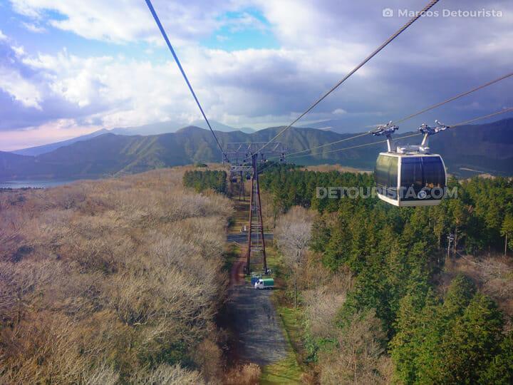 Hakone Ropeway in Hakone, Japan