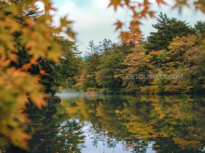 Kumoba Pond in Karuizawa, Nagano, Japan